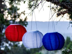 "Patriot 10"" Solar Lanterns, 3-Pack"