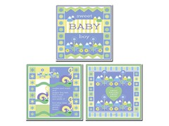Sweet Baby Boy Canvas Art Set