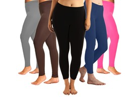 6-Pack: Cotton Plus Size Leggings
