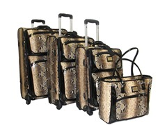 Deluxe Spinner 4 pc Set-Brown Python