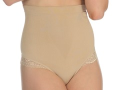 Lace Trim G-String Shaper, Nude