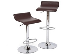 RST Living Brown Leather Barstool - 2pk