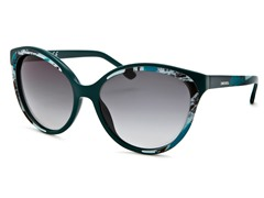 Women's Sunglasses, Teal-White Shaded/Gray Gradien