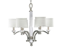 6-Light Chandelier, Classic Silver