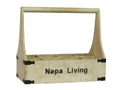 Napa Living Eight-Bottle Wine Holder