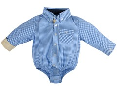 Blue Gingham Infant Shirtzie (3M-24M)