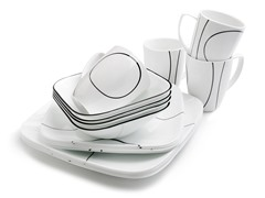 Corelle Square 16-pc Set - Simple Lines