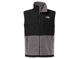 The North Face Denali Vest Men's Recycled Charcoal Grey Heather/Black