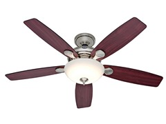 52-Inch LED Ceiling Fan, Nickel