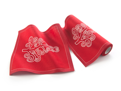 Red Tree Lunch Napkin 20-Ct Cotton