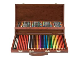 Art 101 80-Pc Drawing & Sketching Wood Art Set