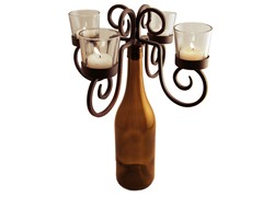 Home Essential Vintage Bottle Candelabra