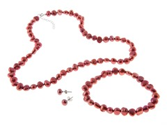 Freshwater Cherry Nugget Pearl Set