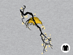 Perched Among Blossoms Long-Sleeve Tee