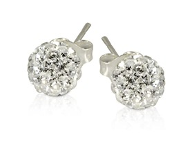 2 CT Swarovski Element Crystal Ball Studs- Pick Color