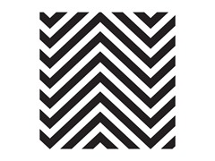 Black & White Chevron Coasters- Set of 4