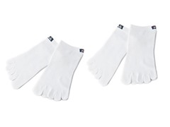 Skele-Toes White Socks (XL) 2-Pairs