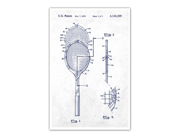 Stupendous Tennis Racket Poster Your Choice Wiring Cloud Intapioscosaoduqqnet