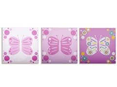 Butterfly Flutter Canvas (Set of 3)