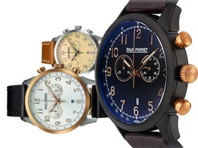 Paul Perret Bosco Swiss Chronograph Men's Watch - 5 Colors