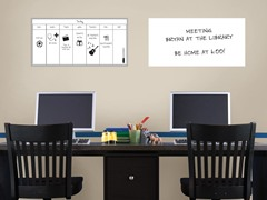 "13""x26"" White Board & Weekly Calendar"