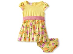 Nannette Yellow Floral Woven Dress (24M)