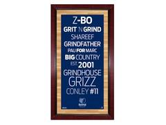 """Memphis Grizzlies 16"""" x 32"""" Sign"""