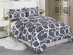 Rhys Duvet Set-Grey-2 Sizes