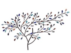 Brenchan Metal/Glass Tree Wall Sculpture
