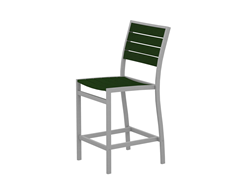 Euro Counter Chair, Silver/Green