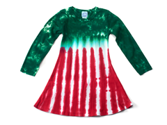 Girls Long Sleeve Dress - Peppermint