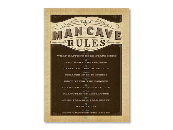 Man Caves Rules : Man cave rules