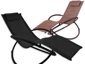 Orbital Rocking Lounger, Black or Brown