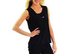 Women's Sleeveless Shirt, Solid Black