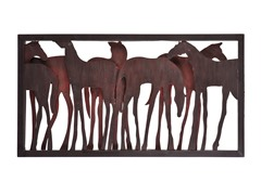 Metal Horse Wall Sculpture