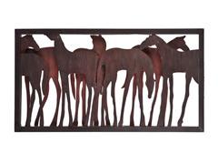 Metal Horse Wall Sculpture