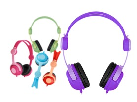 Kids' Adjustable Headphones - 5 Colors