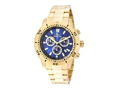 Invicta Men's Chronograph, Blue/18K Gold