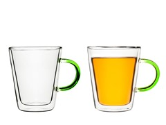 SagaForm Double Wall Glass Mugs 2pk