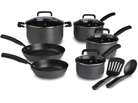 T-fal Hard Anodized 12-Pc Cookware Set