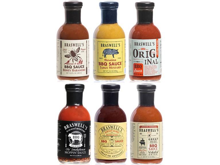 Braswells BBQ Sauce Sampler (6)