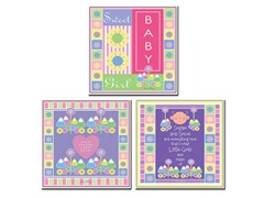 Sweet Baby Girl Canvas Art Set