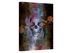 Greg Simanson Skull Wrapped Canvas Art