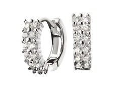 Sterling Silver Dual Row Sim. Diamond