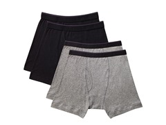 Kings Underwear Boxer Briefs: 4-Pack Black & Grey