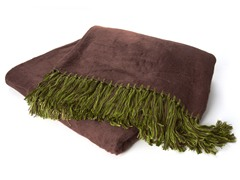 Bamboo Viscose Throw - Chocolate/Kiwi