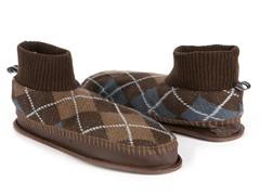 Sheldon Retro Ankle Slipper, Brown