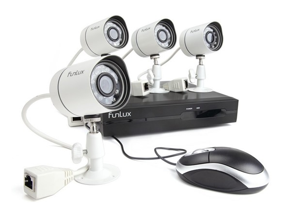 Funlux 4CH/4Cam IP Network Camera System