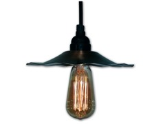 Pendant Light with Copper Shade and Bulb