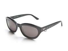 Black Sunglasses w/ Loop and Grey Lens